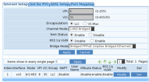 adsl modem/router